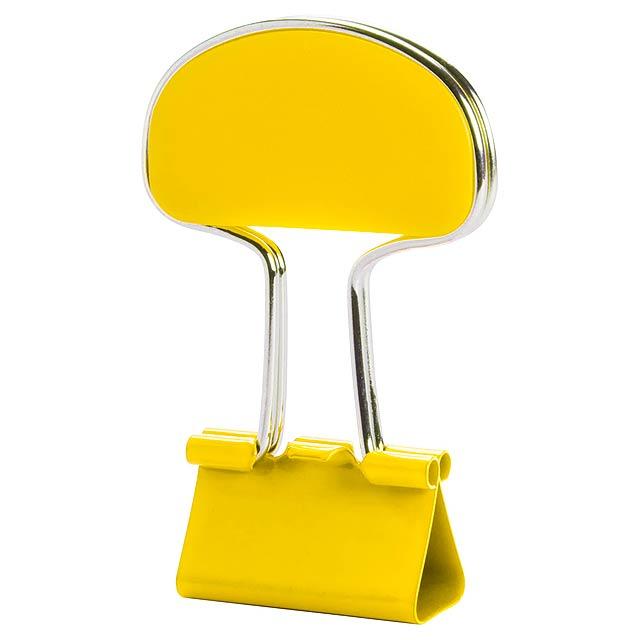 Yonsy klip na poznámky - žlutá
