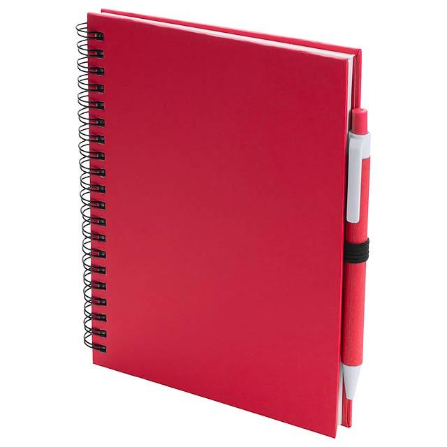 Koguel poznámkový blok - červená
