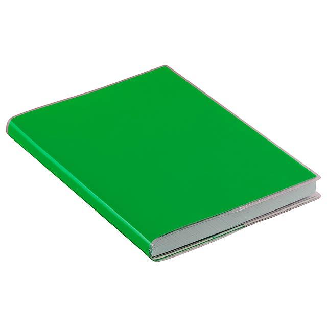 Taigan poznámkový blok - zelená