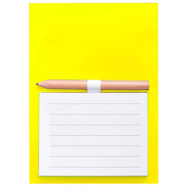 Yakari - Magnetischer Notizblock - Gelb