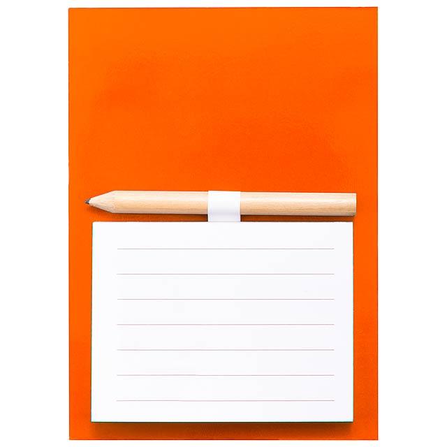 Yakari blok s magnetkou - oranžová
