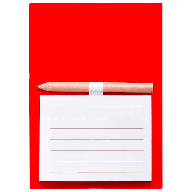 Yakari blok s magnetkou - červená