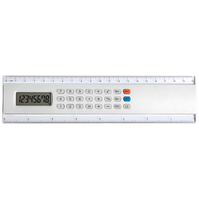 Calculator Ruler - white