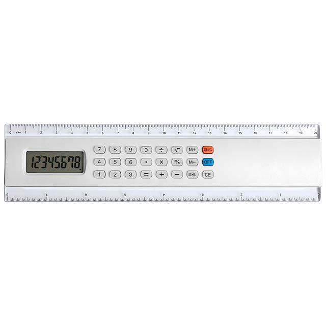 Profex kalkulačka s pravítkem - biela