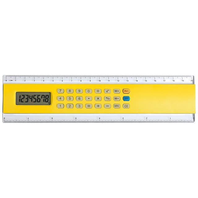 Profex kalkulačka s pravítkem - žltá