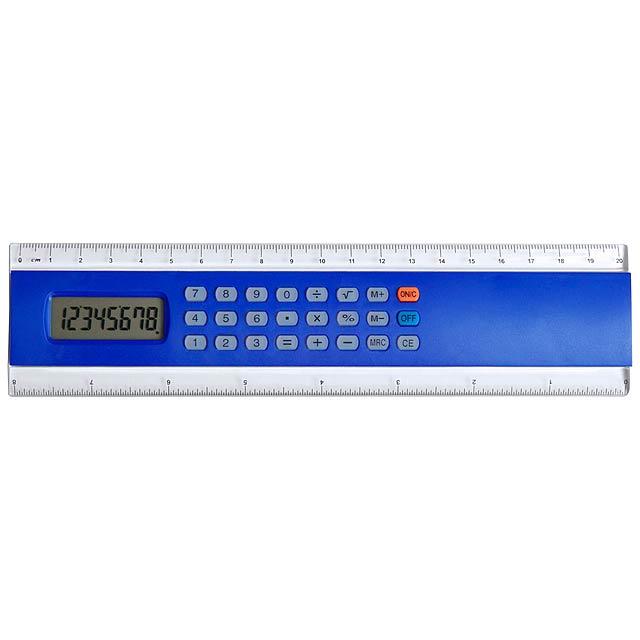 Profex kalkulačka s pravítkem - modrá