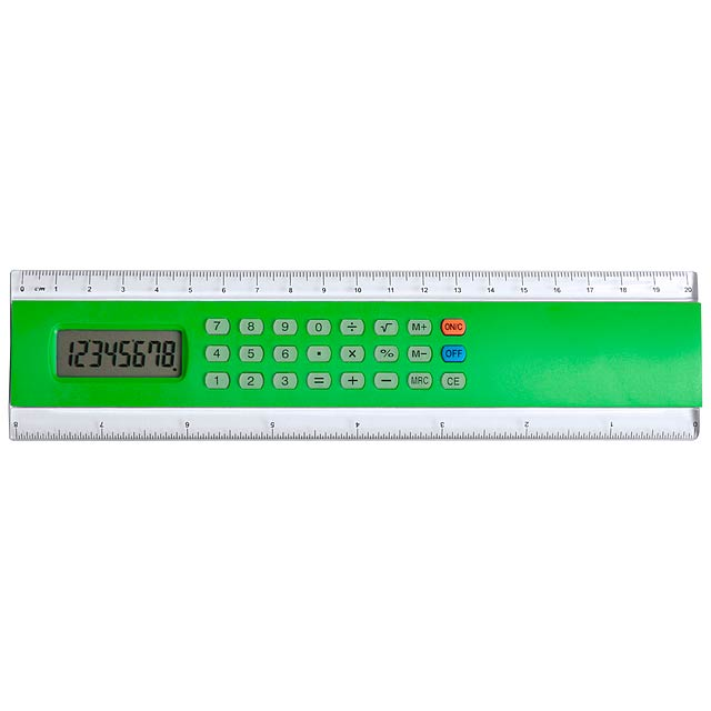 Profex kalkulačka s pravítkem - zelená