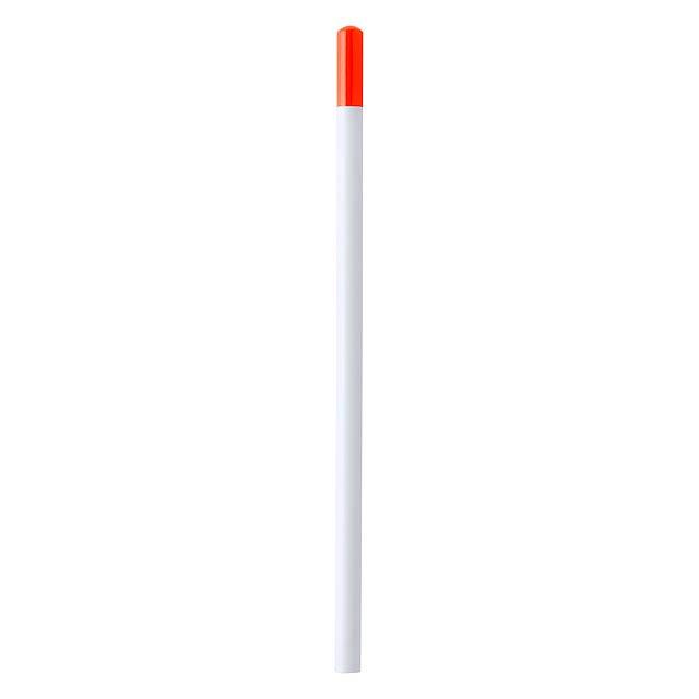 Koby tužka z recyklovaného papíru - oranžová