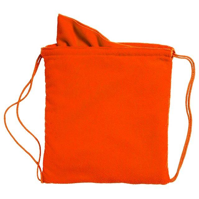 Kirk ručník v pytlíku - oranžová