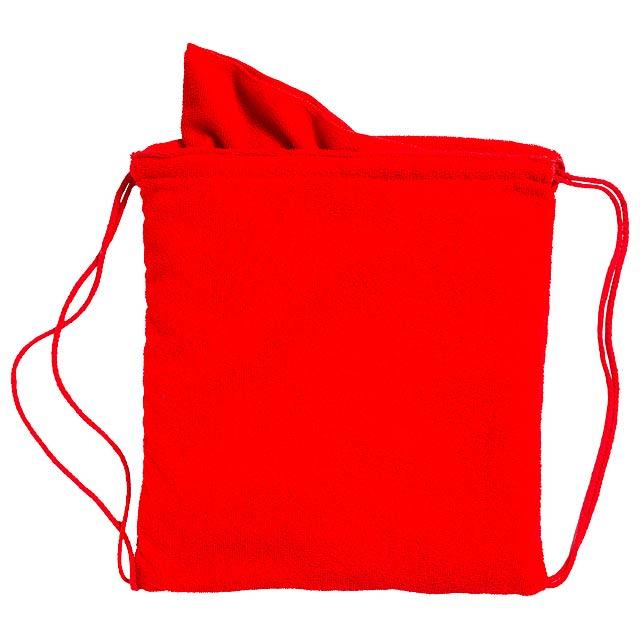 Kirk ručník v pytlíku - červená