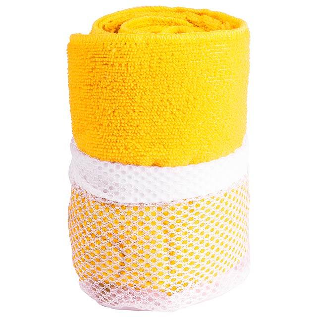 Gymnasio ručník - žlutá