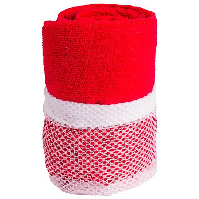 Gymnasio ručník - červená