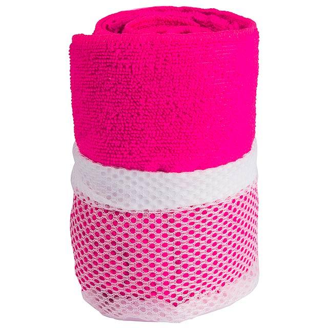 Gymnasio ručník - fuchsiová (tm. růžová)