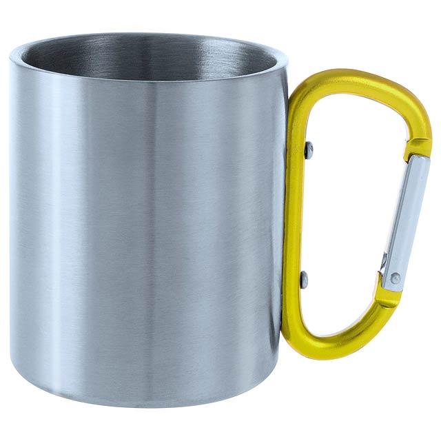 Bastic kovový hrnek - žlutá