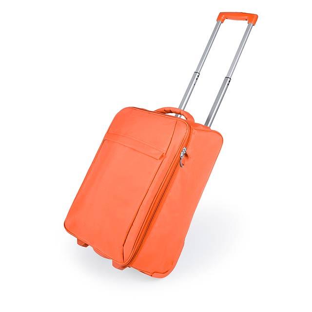 Dunant skládací kufr na kolečkách - oranžová