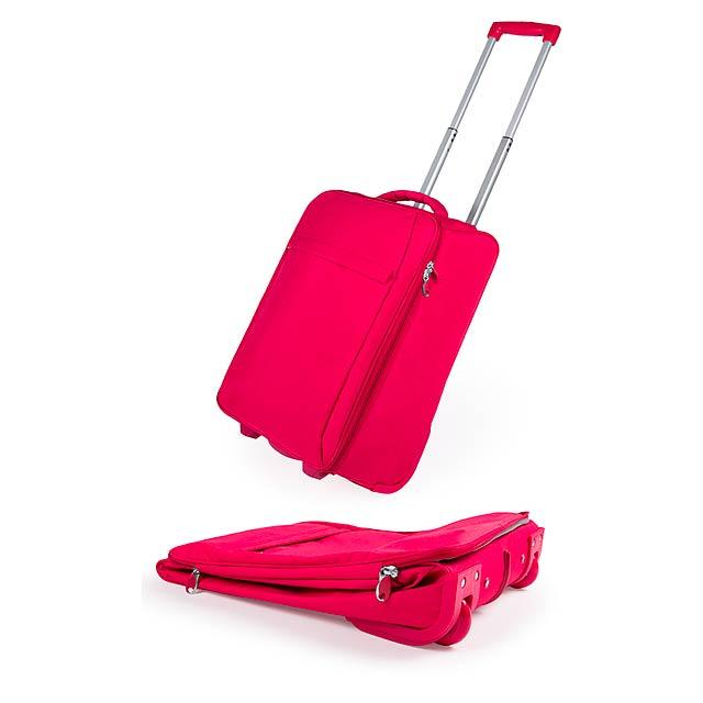 Dunant skládací kufr na kolečkách - červená