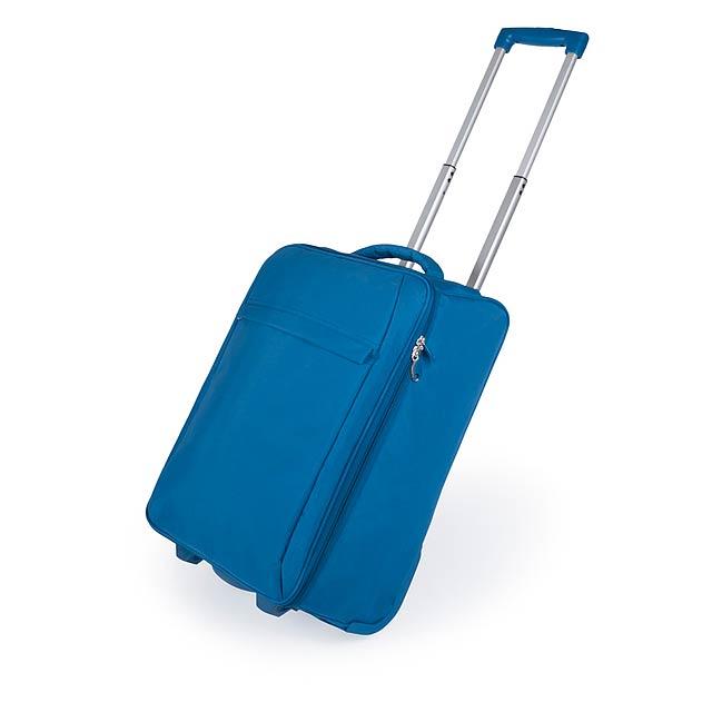 Dunant skládací kufr na kolečkách - modrá