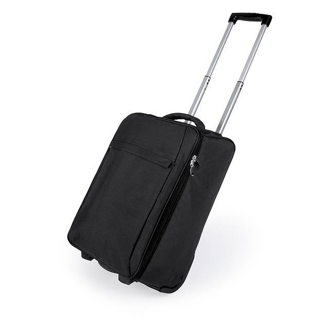 Dunant skládací kufr na kolečkách - černá