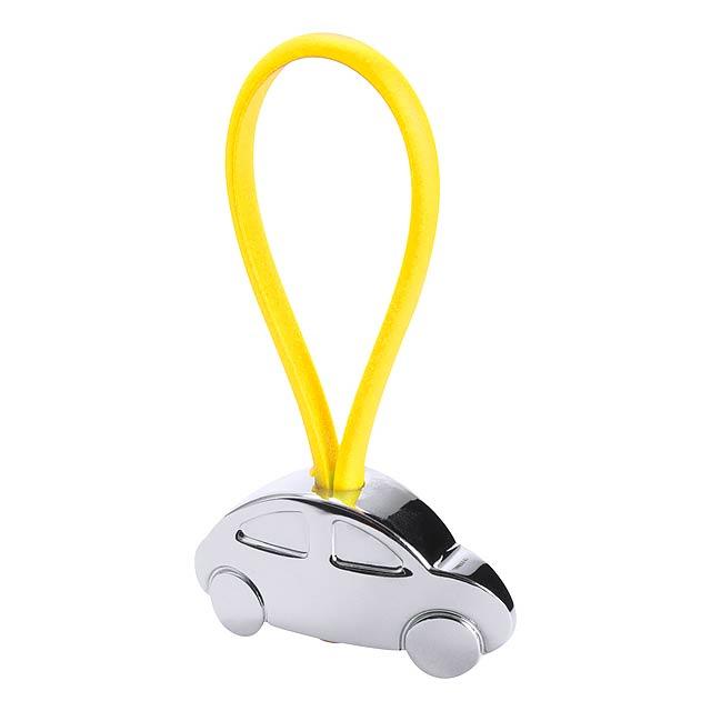 Rizet přívěšek na klíče - žlutá