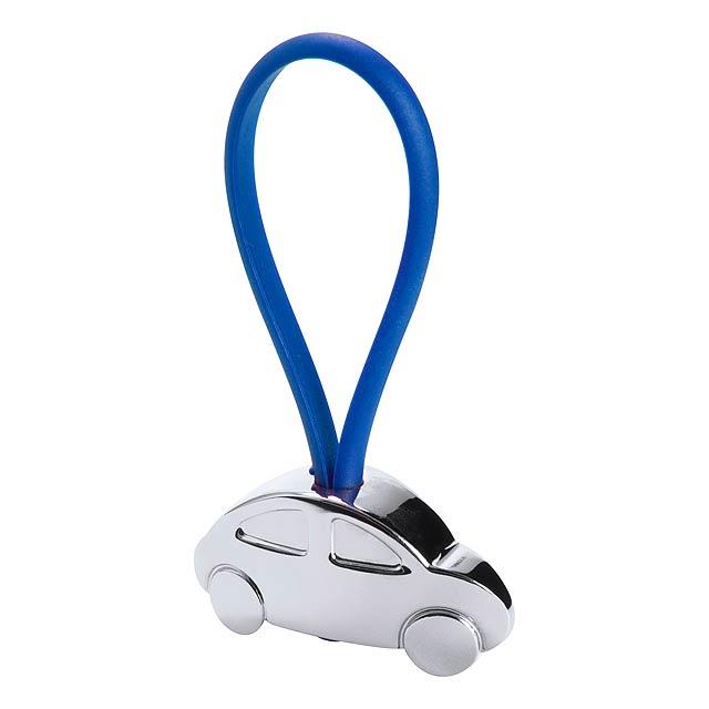 Rizet přívěšek na klíče - modrá