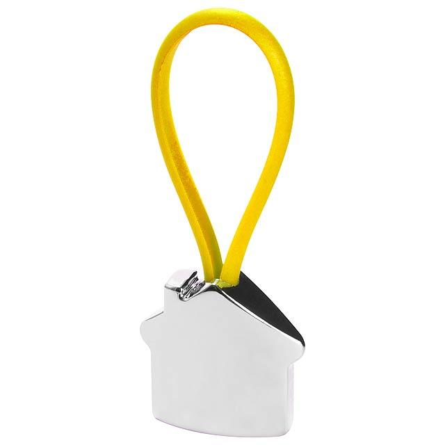 Bolky přívěšek na klíče - žlutá