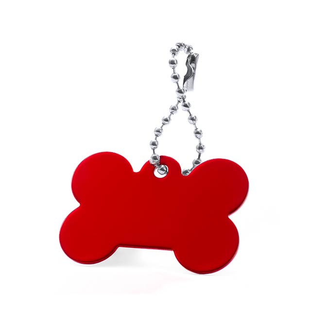 Farrow přívěšek psí známka - červená