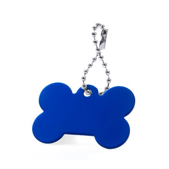 Farrow přívěšek psí známka - modrá