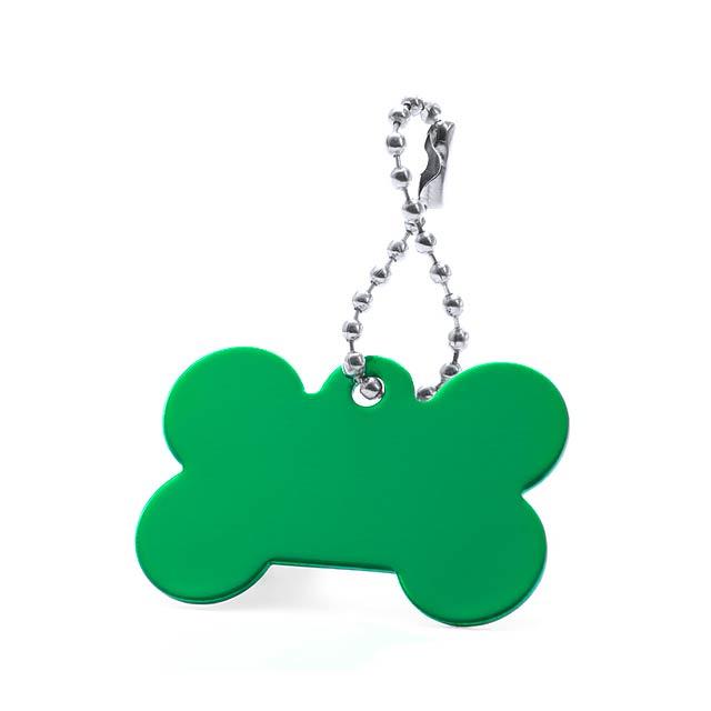 Farrow přívěšek psí známka - zelená