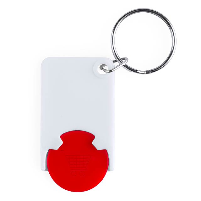 Keyring with token - red