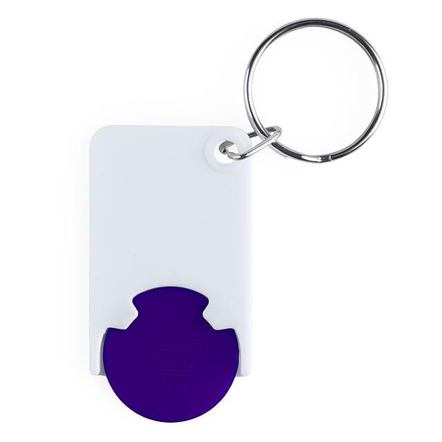Zabax přívěšek na klíče se žetonem - modrá