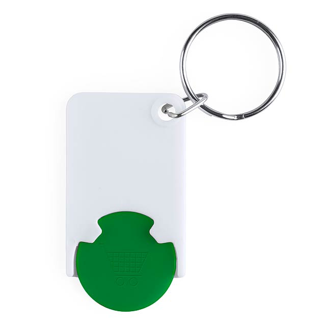 Trolley Coin Keyring - green