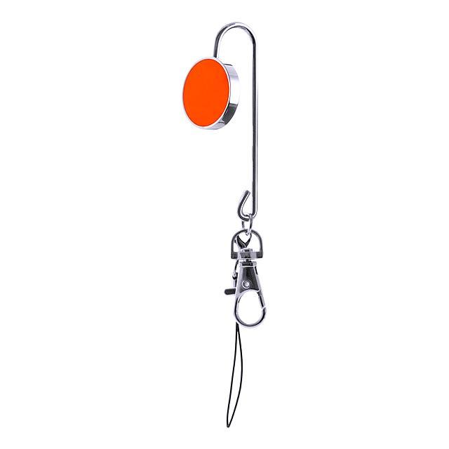 Lysia držáček na klíče - oranžová