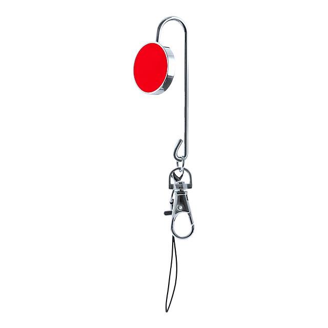 Lysia držáček na klíče - červená