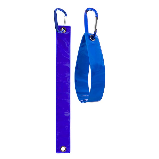 Brux reflexní přívěšek na klíče - modrá