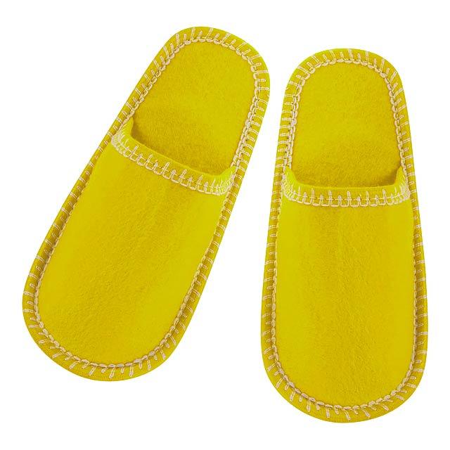 Cholits pantofle - žlutá