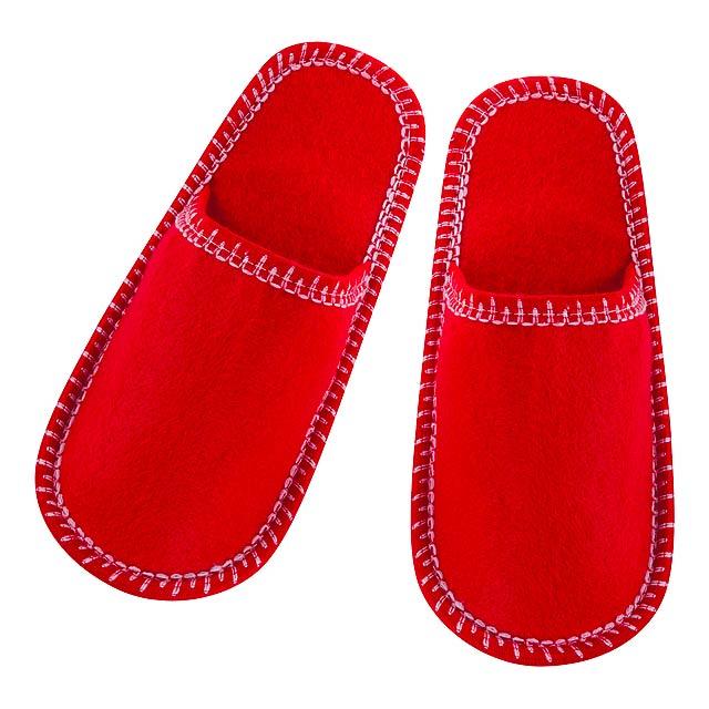 Cholits pantofle - červená