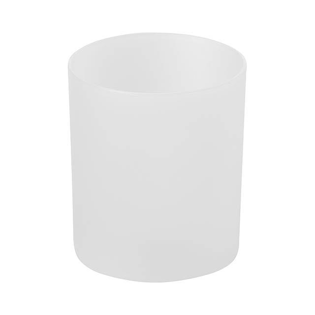 Fiobix svíčka se světlem - bílá