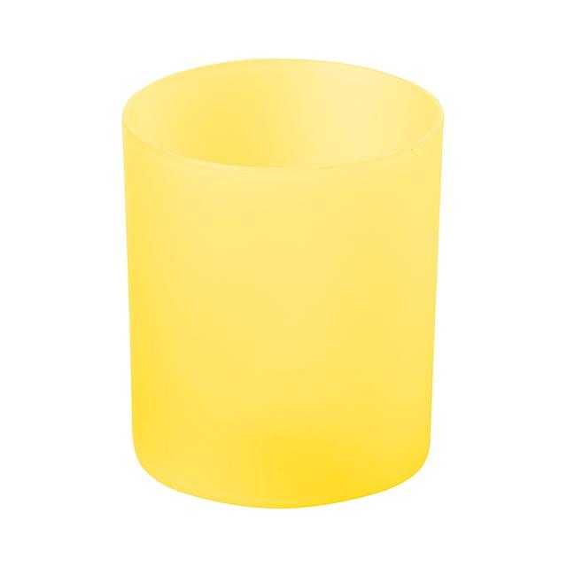 Fiobix svíčka se světlem - žlutá
