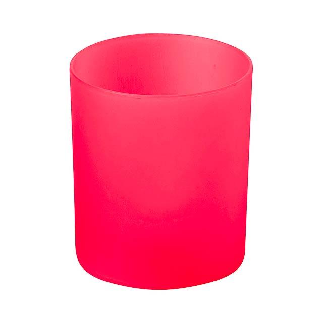 Fiobix svíčka se světlem - červená