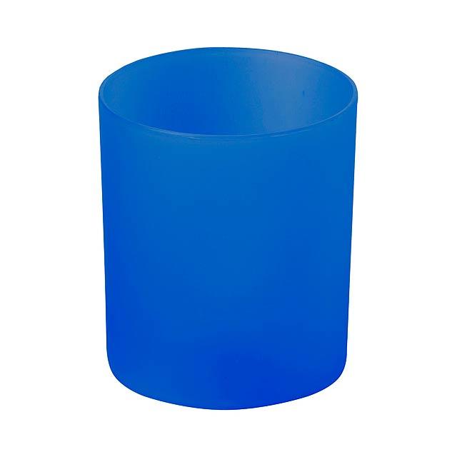 Fiobix svíčka se světlem - modrá