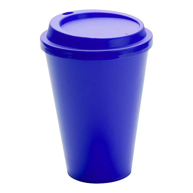 Kimstar uzavíratelný plastový pohárek - modrá