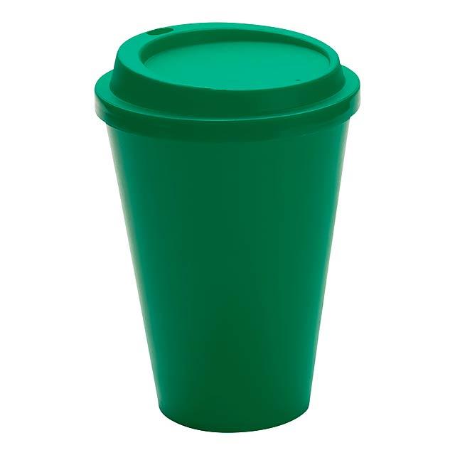 Kimstar uzavíratelný plastový pohárek - zelená
