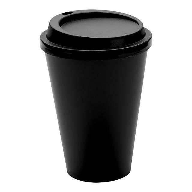 Kimstar uzavíratelný plastový pohárek - černá