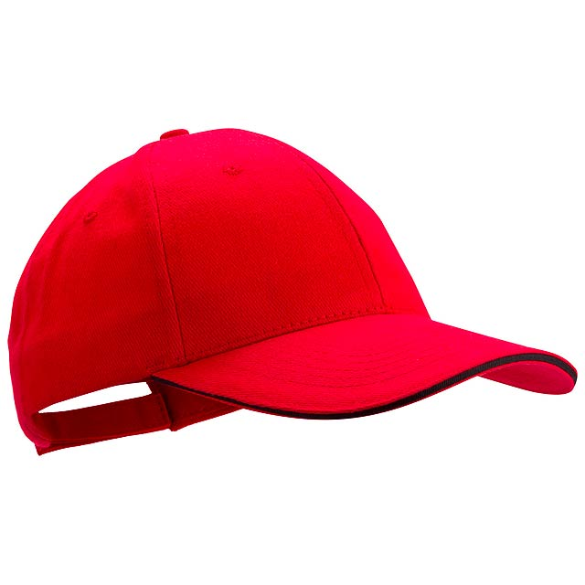 Rubec basebalová čepice - červená