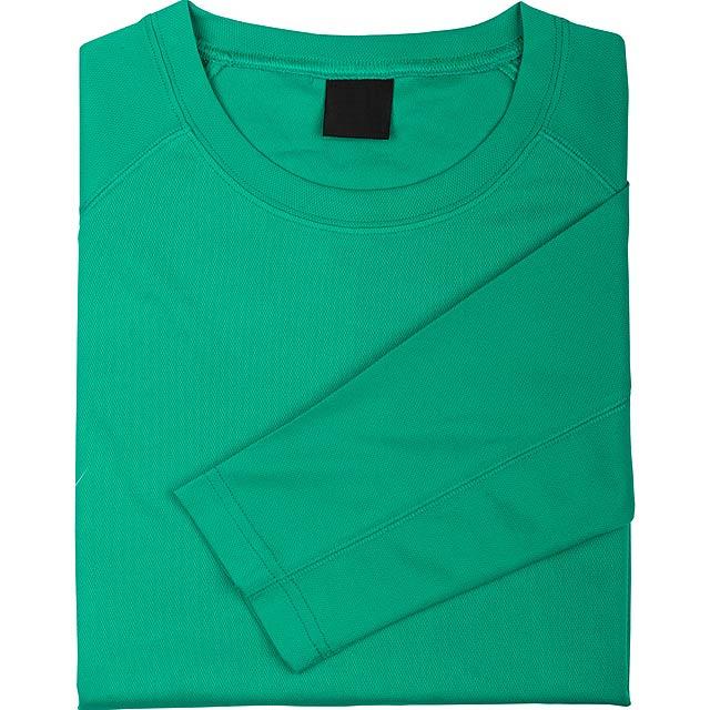 Prodyšné sportovní tričko pro dospělé, 100% polyester, 135 g/m². - zelená - foto