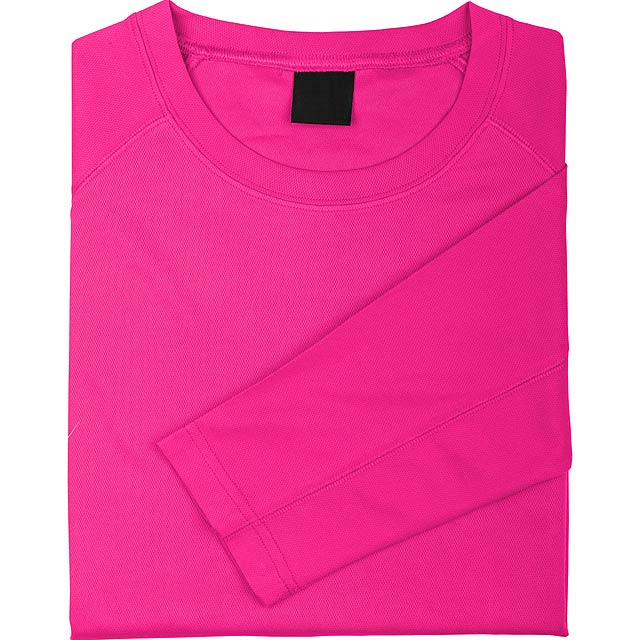 Prodyšné sportovní tričko pro dospělé, 100% polyester, 135 g/m². - růžová - foto