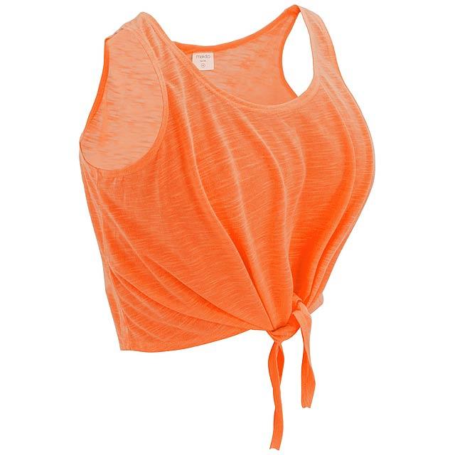 Dámské barevné tričko,100% Polyester, 130 g/m². - oranžová - foto