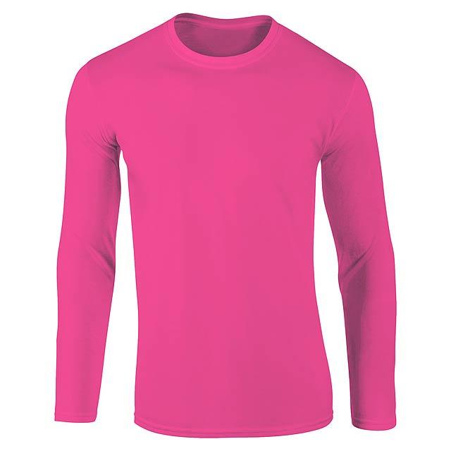 Sportovní mikina pro dospělé, 100% polyester,265 g/m². - růžová - foto
