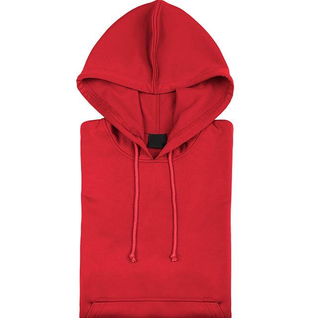 Theon Mikina s kapucí - červená
