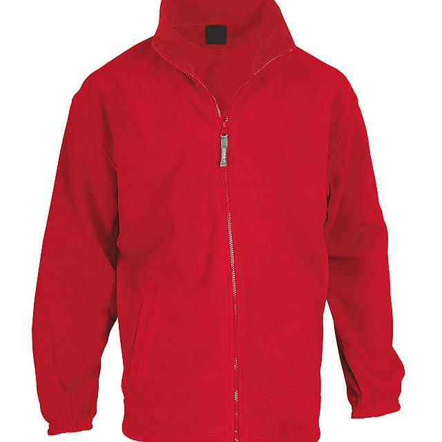 Hizan fleecová bunda - červená